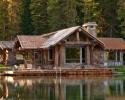 Rusztikus erdei, tóparti ház